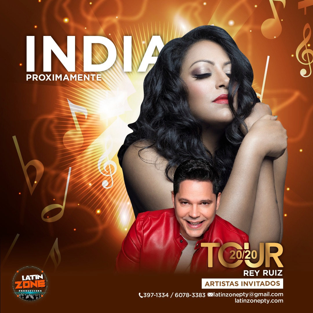 Llega a al TOUR 20/20 INDIA «la princesa de la salsa»
