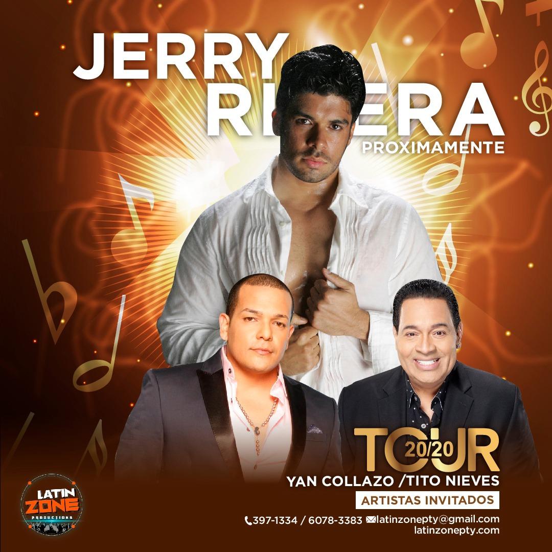 Llega Jerry Rivera «El cara de niño» al Tour 20/20 En Panamá
